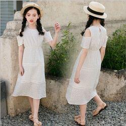 Váy maxi dáng dài hở vai giá sỉ