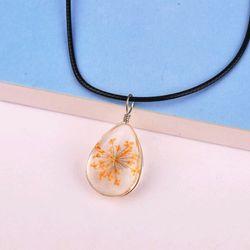 dây chuyền mặt đá ép hoa khô giá sỉ 16k bao gồm dây và mặt mẫu mới nhất y hình giá sỉ