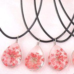 dây chuyền mặt đá ép hoa khô giá sỉ 16k bao gồm dây và mặt mẫu mới nhất y hình nhe giá sỉ