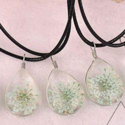 dây chuyền mặt đá ép hoa khô giá sỉ 16k bao gồm dây và mặt mẫu mới nhất y hình mẫu đẹp giá sỉ