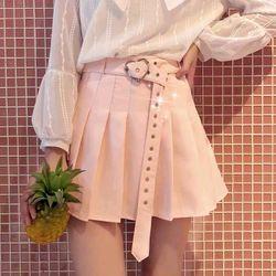 váy xếp ly khoen kèm dây nịch tim hot trend giá sỉ