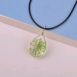 dây chuyền mặt đá ép hoa khô giá sỉ 16k bao gồm dây và mặt mẫu mới nhất y hình nha giá sỉ