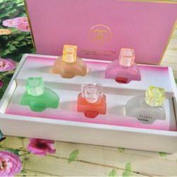 Set nước hoa chanels 5 chai hộp hồng giá sỉ