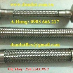 Khớp nối mềm 2 lớp lưới inox khớp co giãn ống chống rung inox pasty ống mềm kết nối đầu phun chữa cháy giá sỉ