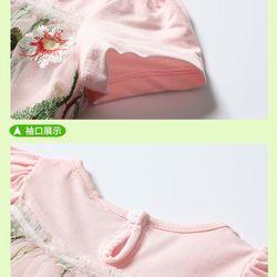 Váy thun mềm mịn co giãn phối 2 lơps voan lưới mềm thêu hoa lá cành sắc nét giá sỉ, giá bán buôn