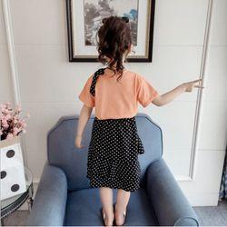 Áo thun mềm mịn co giãn kết hợp chân váy chấm bi giá sỉ, giá bán buôn