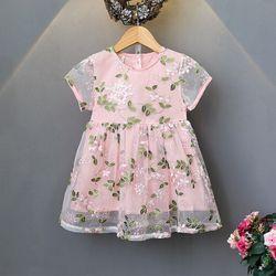 Váy voan lưới thêu hoa nổi bật giá sỉ