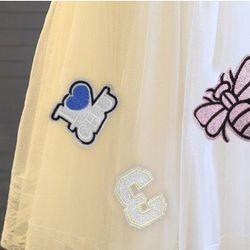 Váy vón thêu hình con ong 3 lớp giá sỉ, giá bán buôn