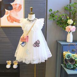 Váy vón thêu hình con ong 3 lớp giá sỉ