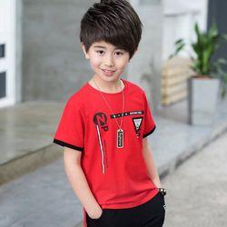 Bộ thun cotton co giãn 4D phong cách Hàn Quốc cho bé trai giá sỉ