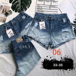 Quần Short Jean Nữ 2 màu có size như hình giá sỉ