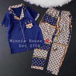 Pijama - Đồ bộ mặc nhà lụa mát mịn không nhăn HT phối tay ngắn quần dài giá sỉ