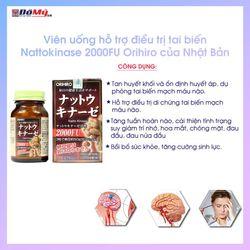 Viên uống giúp phục hồi hỗ trợ điều trị tai biến Nattokinase 2000FU Orihiro hộp 60 viên cùa Nhật Bản giá sỉ, giá bán buôn