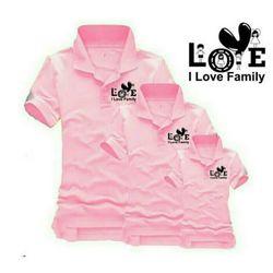 áo thun gia đình cổ trụ 4 giá sỉ