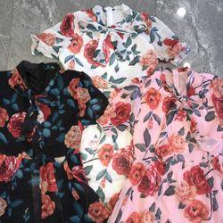 Đầm xoè hoa nơ giá sỉ, giá bán buôn