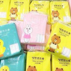 Bông tẩy trang Gấu Vịt Muji Nhật Bản giá sỉ