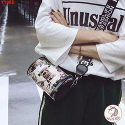 Túi đeo chéo trống họa tiết nữ giá sỉ
