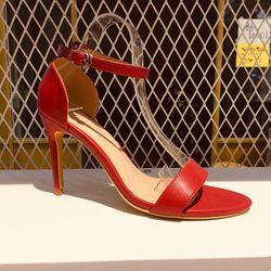 Sandal 9 phân - Da lì - Màu Đỏ giá sỉ