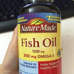 dầu cá fish oil nature made 250 viên của mỹ
