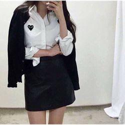 áo khoát tim thêu nữ màu trắng cực chất giá sỉ