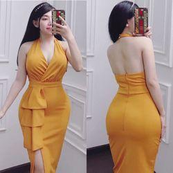 Váy body vạt bèo giá sỉ