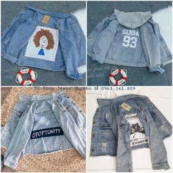 Áo Khoác Jeans Nữ in 4 Kiểu Đa Dạng giá sỉ