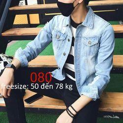 Áo Khoác Jeans Nam Unisex Freesize MS 25 giá sỉ