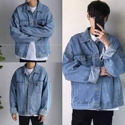 Áo Khoác Jeans Nam Unisex Freesize MS 27 giá sỉ