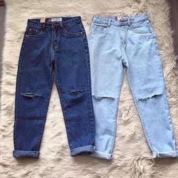 Quần Baggy Jeans Nữ 2 Màu giá sỉ
