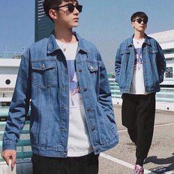 Áo Khoác Jeans Nam Unisex Freesize MS 30 giá sỉ