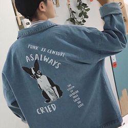 Áo Khoác Jeans Nam Unisex Freesize MS 16 giá sỉ
