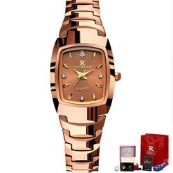 Đồng hồ nữ Ontheedge dây đá RZY05 fullbox vàng-hồng giá sỉ