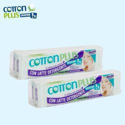 Bông Tẩy Trang Cotton Plus 2 Trong 1 Chiết Xuất Lô Hội Cà Rốt Vitamin E 60 miếng giá sỉ, giá bán buôn