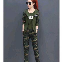 Set bộ đồ thể thao nữ lính Strict gồm áo khoác áo thun quần dài giá sỉ
