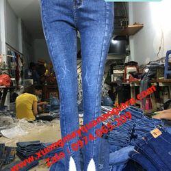Chuyên sỉ quần jean nữ lưng cao giá sỉ