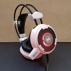Tai nghe Wangming 8900L màu trắng LED đỏ dành cho game thủ giá sỉ