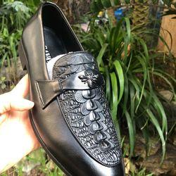 Giày lười nam da bò GL-03 giá sỉ