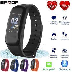 Vòng tay thông minh SANDA C1 theo dõi sức khoẻ tập thể thao giấc ngủ nhịp tim giá sỉ