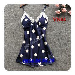 Váy ngủ nữ chấm bị dễ thương VN44XA - giá sỉ tốt nhất thị trường