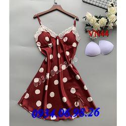 Váy ngủ nữ chấm bị dễ thương VN44DO - giá sỉ tốt nhất thị trường