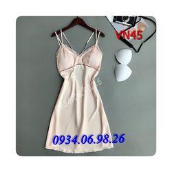 Đầm ngủ nữ quyến rũ dây đôi có mút VN45DA - giá sỉ tốt nhất thị trường