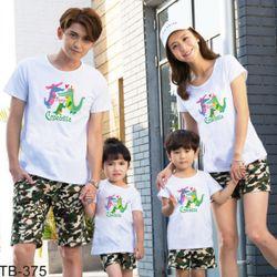 áo thun gia đình năng động ngày hè giá sỉ
