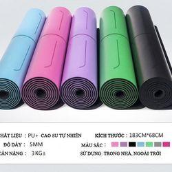 Thảm Yoga Định Tuyến 5mm PU đủ Mầu Tặng Túi xịn giá sỉ