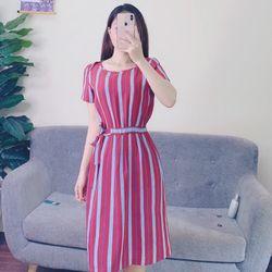 Váy đầm váy dáng xuông có đai buộc vừa tiện lợi vừa sang chảnh size s m l giá sỉ