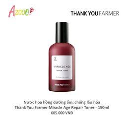 Nước hoa hồng dưỡng ẩm chống lão hóa Thank You Farmer