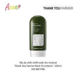 Tẩy da chết chiết xuất rêu iceland - Thank You Farmer back to iceland 150ml