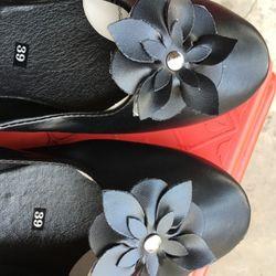 Giày búp bê nơ hoa