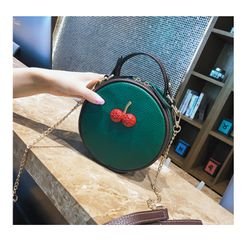 Túi Hộp Tròn Da Đính Họa Tiết Cherry Siêu Hot DA9109 giá sỉ