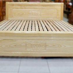 Giường gỗ sồi tự nhiên 1m6 giá sỉ