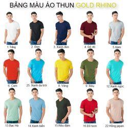 ÁO THUN NAM TRƠN GOLD RHINO giá sỉ